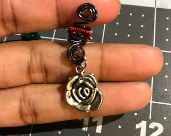 Rose Hair/Dread/Loc/Braid Spiral Coil Bead/Jewelry