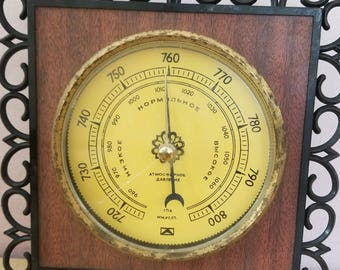 1989 Accurate Barometer BK-CH - Vintage USSR Soviet Russian device