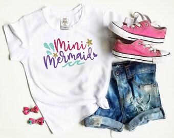 Mermaid Shirt Girls - Mermaid Shirt for Toddlers - Mini Mermaid Shirt - Mermaid Tank Top - Little Girls Mermaid Shirt - Tee Shirt - Bodysuit