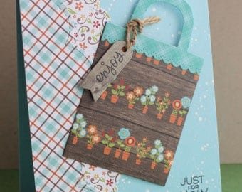 Thank you, handmade gift card, card friendship card card, card holder gift, thank you