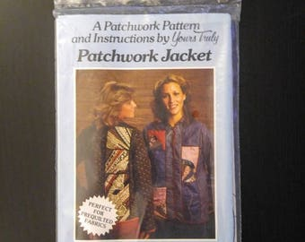 ON SALE Vintage Sewing Pattern Patchwork Jacket Size Small/Medium Medium/Large Complete And New