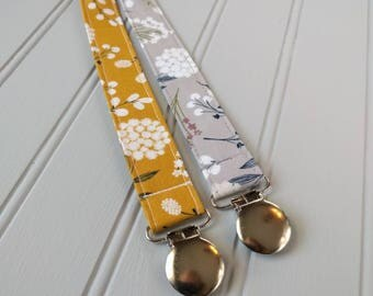 Floral Pacifier Clip | Pacifier Clip | Girl Pacifier Clip | Binky Clip | Baby Gifts