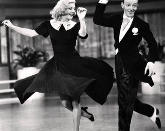 """Fred Astaire and Ginger Rogers in the Film """"Swing Time"""" - 8X10 or 11X14 Publicity Photo (EP-080)"""