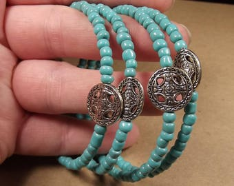 Tribal charms in turquoise