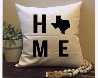 Personalized Pillow, Custom Pillow, Custom Pillow case, Housewarming Gift, Home Pillow, Home State Pillow, Pillow cover, Personalized Cover
