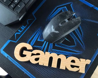 Gamer gift, wooden gamer sign. Gifts. Xbox player PS4 player PC Gaming