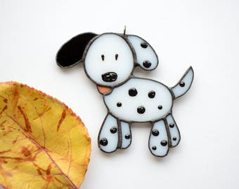 """Stained glass Christmas decoration """"Dalmatian"""""""