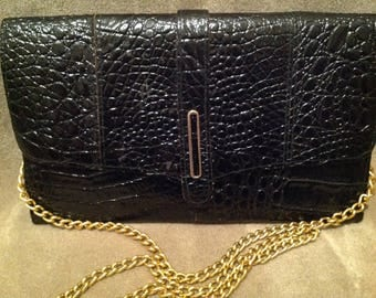Vintage Ladies Shoulder Handbag  /purse / Vintage Black Bag