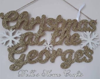 Personalised Christmas at the.... Sign