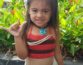 Disney's Moana Outfit, Moana Costume, Photo Prop, Newborn, Toddler, First Birthday Moana Theme, Crochet Costume