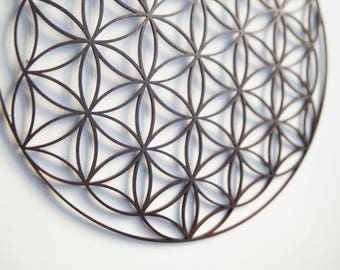 Wooden Mandala / 30 cm / home decor / Symbol of Flower of Life / made of wood