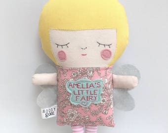 Personalised Fairy - Unique Handmade Soft Toy Baby Kids Gift