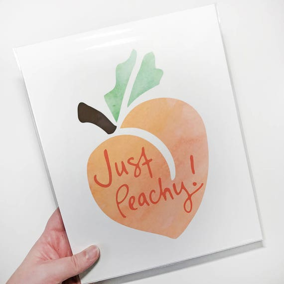 """Just Peachy!"" Giclée Art Print - 8x10 - Watercolor Paper"