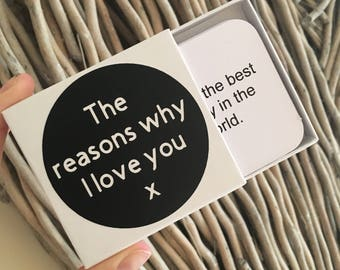 Mothers Day gift for her - Reasons why I love you - 10, 20 or 30 personalised messages - mum Gift - Anniversary