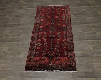 Nice Tribal Runner Handmade Hamedan Persian Area Rug Oriental Carpet 3'5X8'4