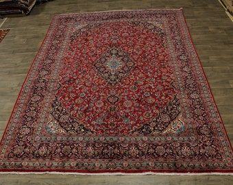 10X12 Traditional Semi Antique Mashad Persian Rug Oriental Area Carpet 9'7X12'4