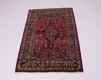 Lovely Handmade Traditional Signed Mashad Persian Rug Oriental Area Carpet 7X10