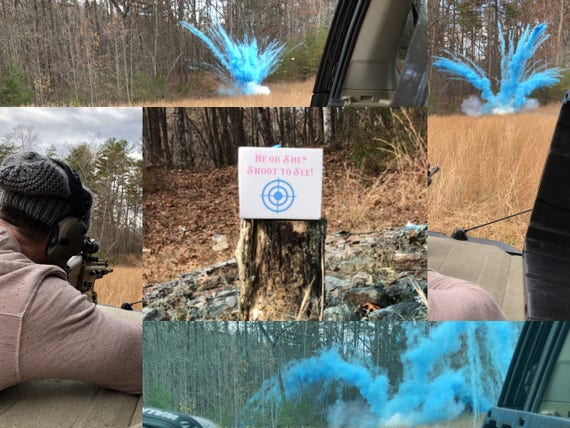 POWDER BOX TARGET™  Epic Shooting Target Gender Reveal New Creative Gender Reveal Idea! Ships Same Day!