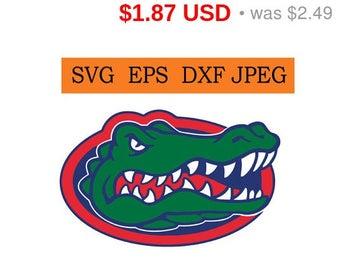 Sale 25%  -  Florida Gators logo in SVG / Eps / Dxf / Jpg files INSTANT DOWNLOAD!