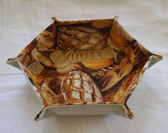 Foldout hexagonal bread basket
