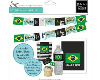 LDS Missionary Set Brazil Digital Download Print/Cut SVG & Pdf Printable