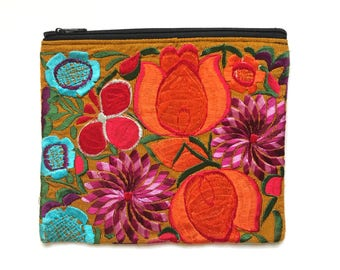 Embroidered purse, Embroidered clutch, Mexican purse, Embroidered bag, Mexican clutch, Mexican handbags, Boho bag, Boho purse, Boho clutch