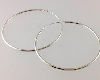 Large Sterling Silver hoops,  Hoop earrings, Large hoop earrings, large hoops, Sterling silver, Sterling hoops/ silver hoops.