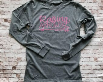Arrow Shirt, Valentines day Gift for Mom, Raising Arrows Long Sleeve T Shirt, PSALM 127:4, Scripture Tshirt, Blessed Mama Shirt, Mom of both