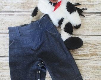 SALE - Denim Jeans - Baby Jeans - Baby Blue Jeans - Newborn Denim Jeans - Baby Western Pants - Baby Infant Jeans - Infant Jeans