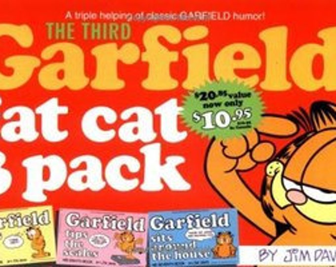 Garfield Fat Cat 3-Pack #3 by Jim Davis Weighs loses his feet/tips the scales