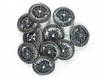 9 compass buttons - Set of buttons - buttons Steampunk - B1176814