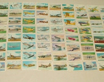 Vintage WINGS Cigarette Card Collection Series C  ******1940's******