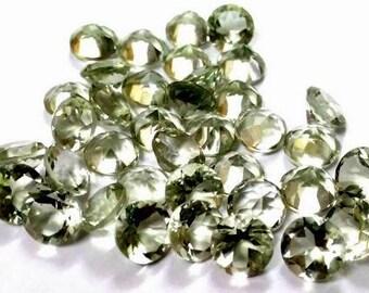 10piece 6mm Green amethyst faceted round gemstone, 100% natural 6mm amethyst Round faceted loose gemstone, Green Amethyst Faceted Gemmstone