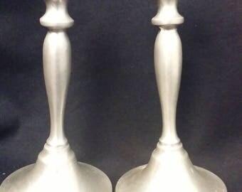 Preisner Handcrafted. Pewter Candlestick Holders