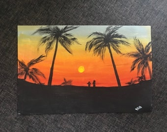 Sunset with you | Acrylic Painting