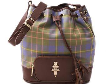 Pastel Scottish Tartan Crossover Bag