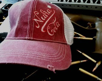 Nuka Cola Fallout inspired trucker cap