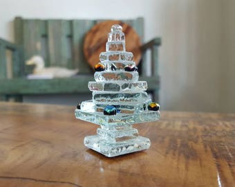 Recycled Glass Decorated Tiny Tree