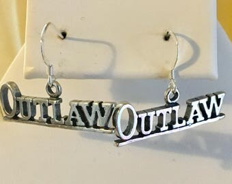FREE SHIPPING USA-Sterling Silver Outlaw Earrings