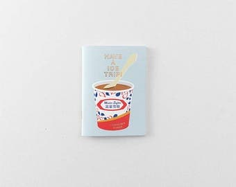 Mister Softee x Traveler's Factory collaboration notebook Refill Passport  size 07100611 Limited Log-On Hong Kong TRAVELER'S COMPANY Rare