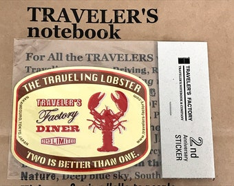 Traveler's Factory 2nd Anniversary Sticker Lobster Gold Traveler's Notebook & Company Limited Midori Designphil Made in Japan Not for sale