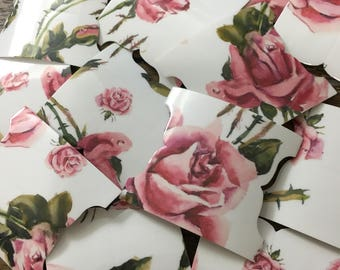 Just Roses Bible Tabs Pack (66 Tabs & Two Sheets Of 66 Labels)