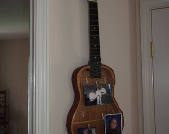 Hand-made mandolin picture and accessory holder