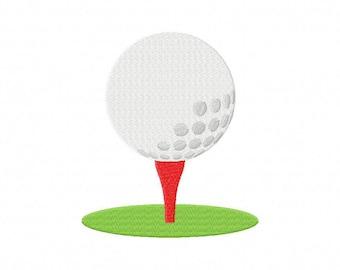 golfball golf tee ball embroidery design