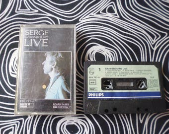 Tape Serge Gainsbourg  Live vgc/used  plastic box