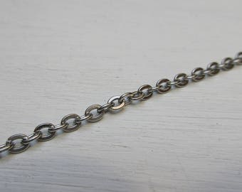 Chain 4.1 x 3.1 mm stainless steel