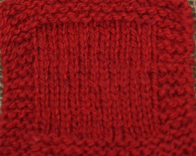 RED APPLE Sport weight 2 ply wool yarn from USA local farm self raised soft wool