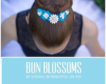 """Bun Blossoms """"Morning Glory"""" Bun Pin"""