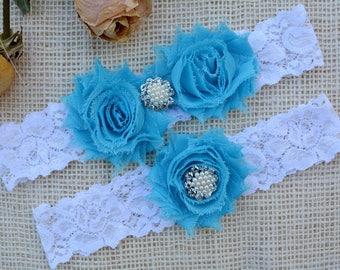 Wedding Garter Blue, Aqua Garter Set, Blue Bridal Clothing, Somethig Blue, Garter Wedding, Garter For Brides, Lace Garter Blue, Keep Garter