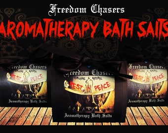 Freedom Chasers Organic & Natural Aromatherapy Bath Salts (Rest in Peace Scent)